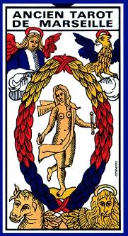Tarot de Marseille. ( Ancien tarot de Marseille. Grimaud ). Les cartes.-0