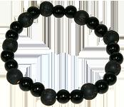 Bracelet perles de karma bois noir - Onyx-0