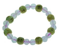 Bracelet perles de karma - Quartz rose-0