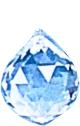 Boule de Cristal feng shui à facettes 30 mm (cristal de roche)-0
