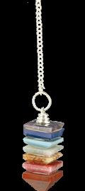 Pendule 7 chakras pyramide. Artisanal-0