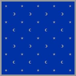 Tapis de cartomancie 80 x 80 cm - Lunes et étoiles (bleu marine)-0