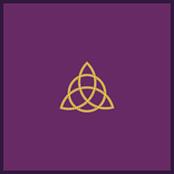 Tapis de cartomancie violet 80 x 80 cm -TRIQUETRA-0