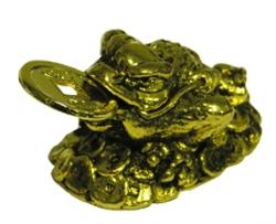 Grenouille feng-shui - laiton métal doré-0