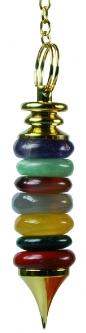 Pendule 7 Chakras artisanal-0