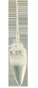 Pendule toupie cristal de roche-0