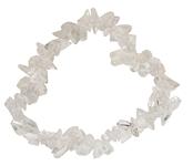 Bracelet baroque cristal de roche - 8 cm environ-0