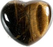 Coeur Oeil de Tigre 45 mm -0
