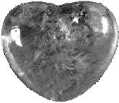 Coeur Cristal de Roche 45 mm - La pièce-0