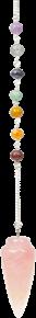 7 Chakras toupie quartz rose-0
