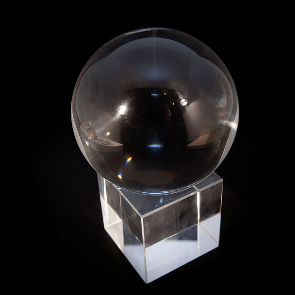 Boule de cristal 80mm + socle-2519