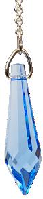 Pendule Cristal 24 facettes Saphir Dark : Ajna-0