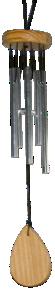 Carillon 5 tubes - Argenté-0