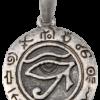 Pendentif Argenté Rond - Oeil d' Horus-0