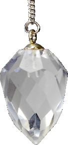 Pendule goutte à facettes cristal de roche-0