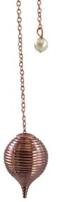 Pendule boule striée en cuivre-0