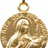 Médaille de Sainte Rita dorée-0